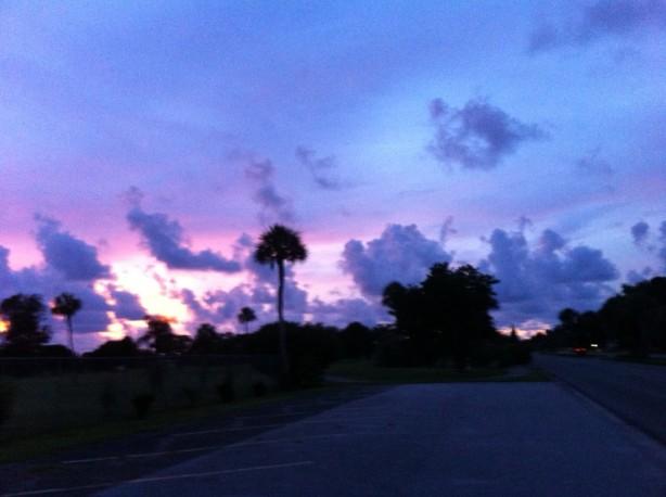 golf course sundown